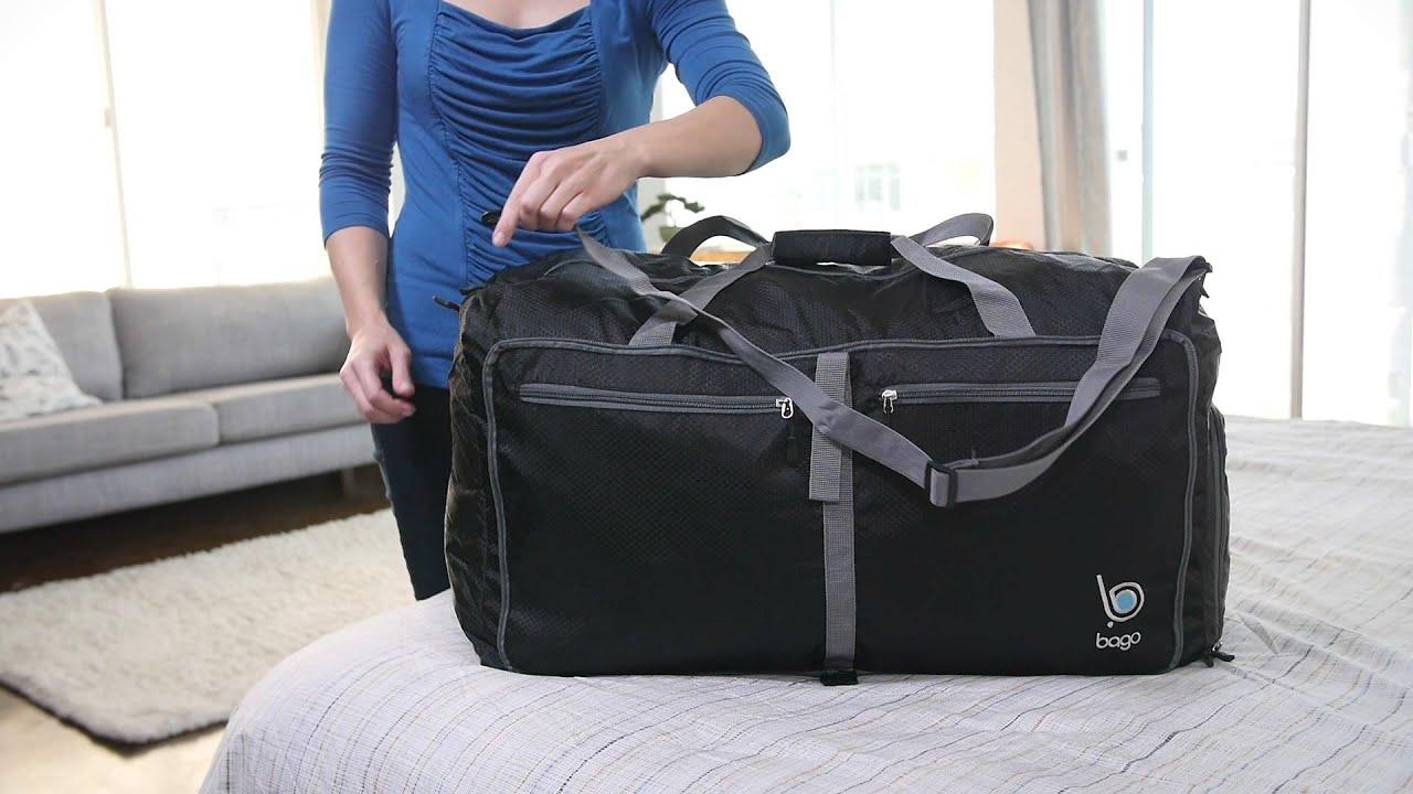 Bago Folding Travel Duffle - YouTube c36c3f6b8edb8
