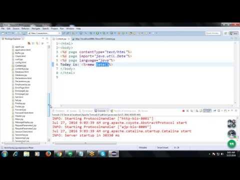 """Java Tutorial 14: Content Type = """"text/html"""",errorpage = Error.jsp,isErrorPage =  """"true"""""""