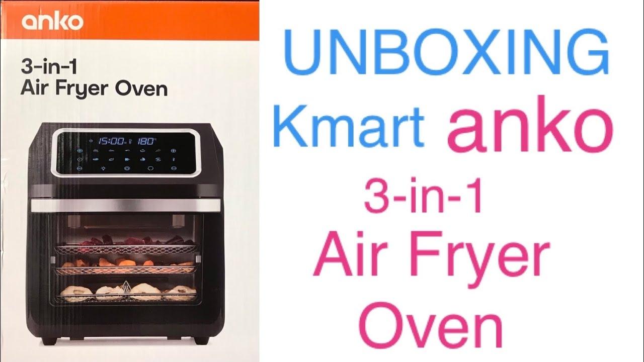 unboxing kmart anko 3 in 1 air fryer oven dehydrator not just teacups