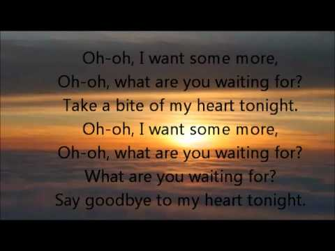 Say goodbye to my heart tonight lyrics
