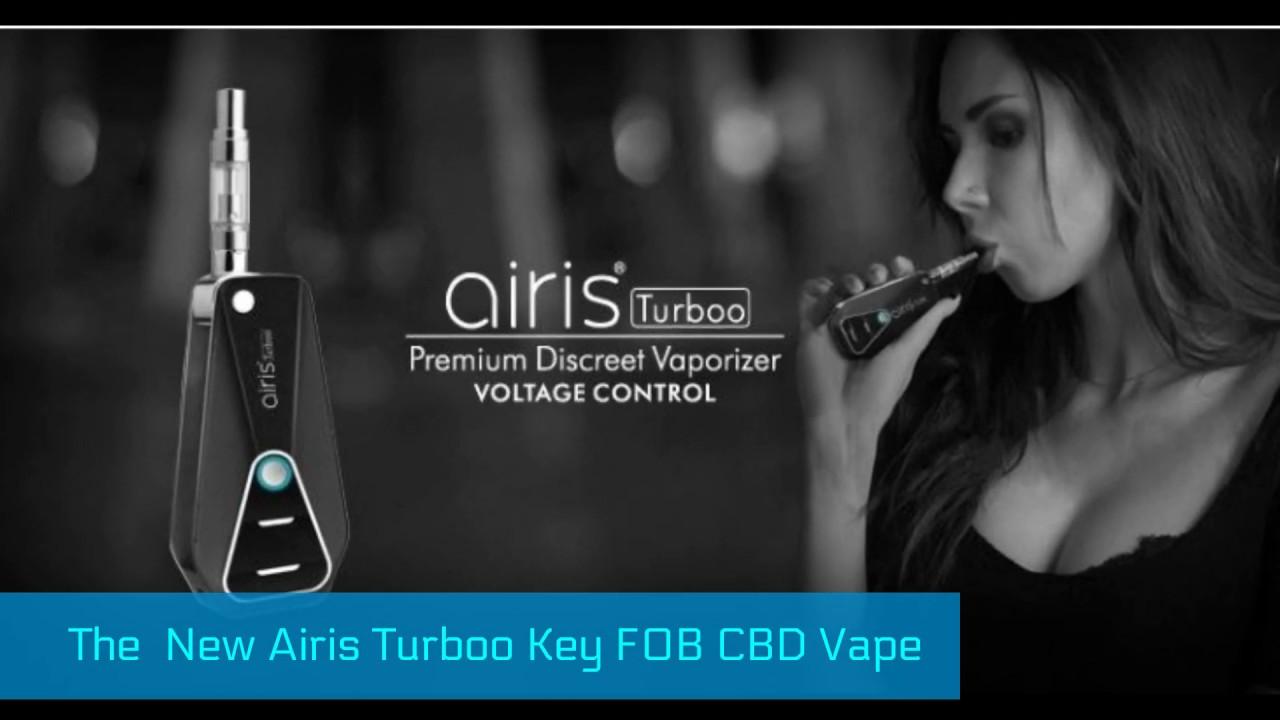 Key FOB Vape Pen Airis Turboo Review BbTank Keychain Flip Battery CBD Oil  Vaporizer