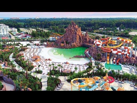 Американские Горки в Аквапарке The Land Of Legends Theme Park! Rixos World, Legends!