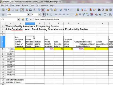 Employee stock options tracking spreadsheet