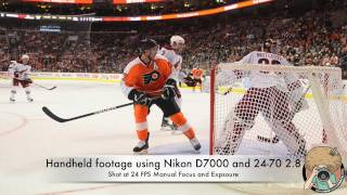 nikon d7000 video test philadelphia flyers