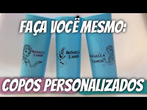 Preparativos Rafaellafaz3 Copo Personalizado Lembrancinha Frozen
