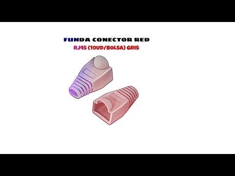 Video de Funda para conector de red RJ45 (10ud/bolsa)  Gris