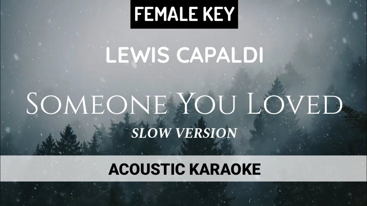 Lewis Capaldi - Someone You Loved | Female Key (Acoustic Karaoke)