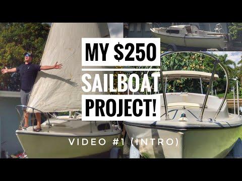 My $250 Liveaboard Sailboat! (VIDEO #1 LIVE INTRO)
