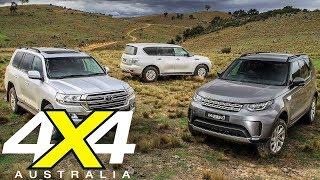 2018 Toyota LC200 vs Land Rover Discovery vs Nissan Y62 Patrol | 4X4 Australia