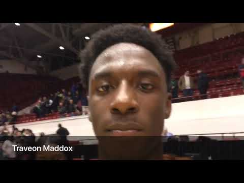 Watch Traveon Maddox hit the game winning shot for Novi to beat Belleville on the Class A quarter...