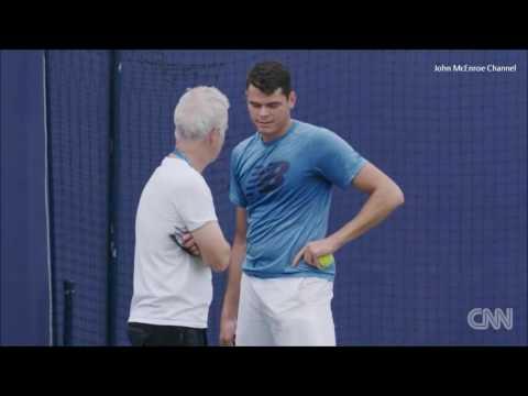 Milos Raonic & New Coach John McEnroe