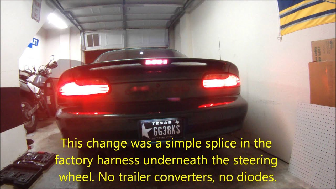 Sequential Tail Lights On 97 02 Camaro Youtube