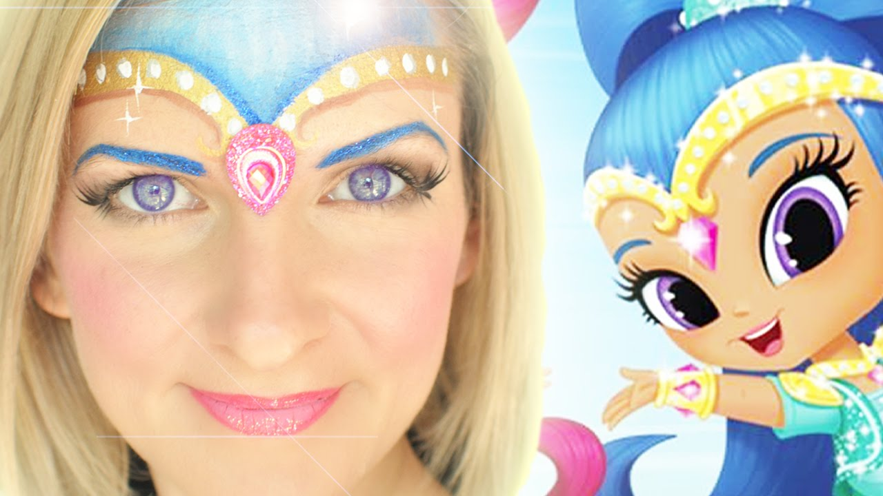 Top Nick Jr. Shimmer and Shine Face Painting Tutorial: Shine - YouTube LS98