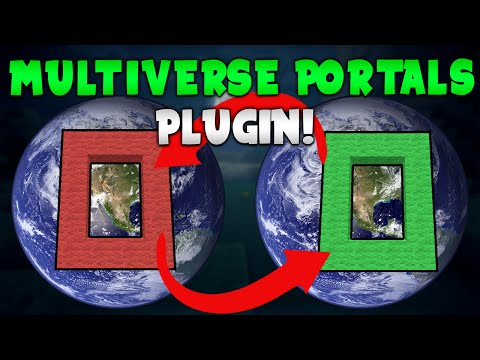 MULTIVERSE PORTALS!   Minecraft Plugin Tutorial