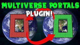 MULTIVERSE PORTALS! | Minecraft Plugin Tutorial