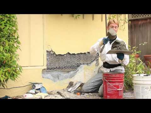repairing-buckling-stucco-or-plaster-walls,-fixing-loose-or-separated-buckling-stucco-walls