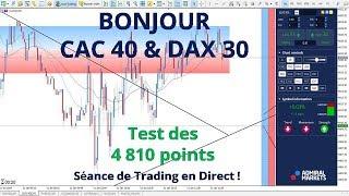 #CAC40 CFD - Séance de Trading en Direct - Bonjour CAC40 & DAX30 le 11/01
