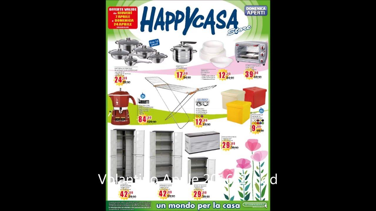 Happycasa volantino 7 24aprile2016 youtube for Punto casa volantino