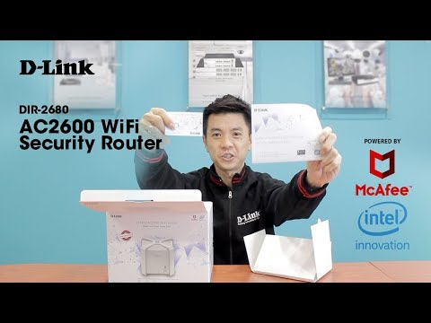 What is a DIR-2680 WiFi Security Router?  Powered by Intel & McAfee