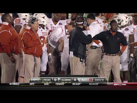 Alabama - Texas 2009 - Colt McCoy hit