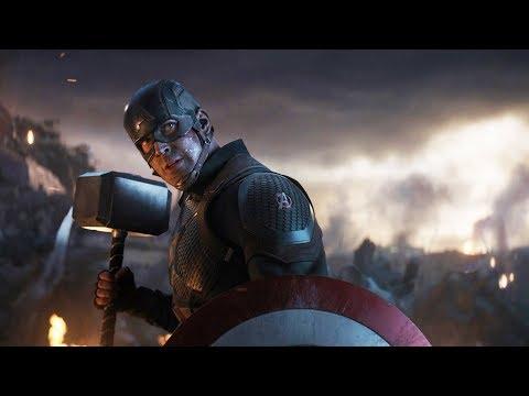 Капитан Америка Поднимает Молот Тора. Мстители Против Таноса   Мстители: Финал (2019)