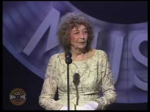 Cindy Walker's induction into the Country Music Hall of Fame