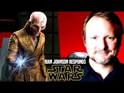 Star Wars! Rian Johnson Responds to Snoke