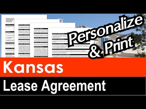 Kansas Lease Agreement For Rental Property Youtube