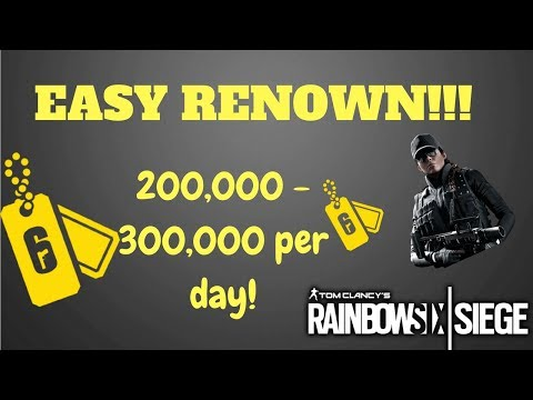 HOW TO GET FREE RENOWN RAINBOW SIX SIEGE! UNLIMITED RENOWN!!! EASY RENOWN FARMING!(Not on Lone Wolf)