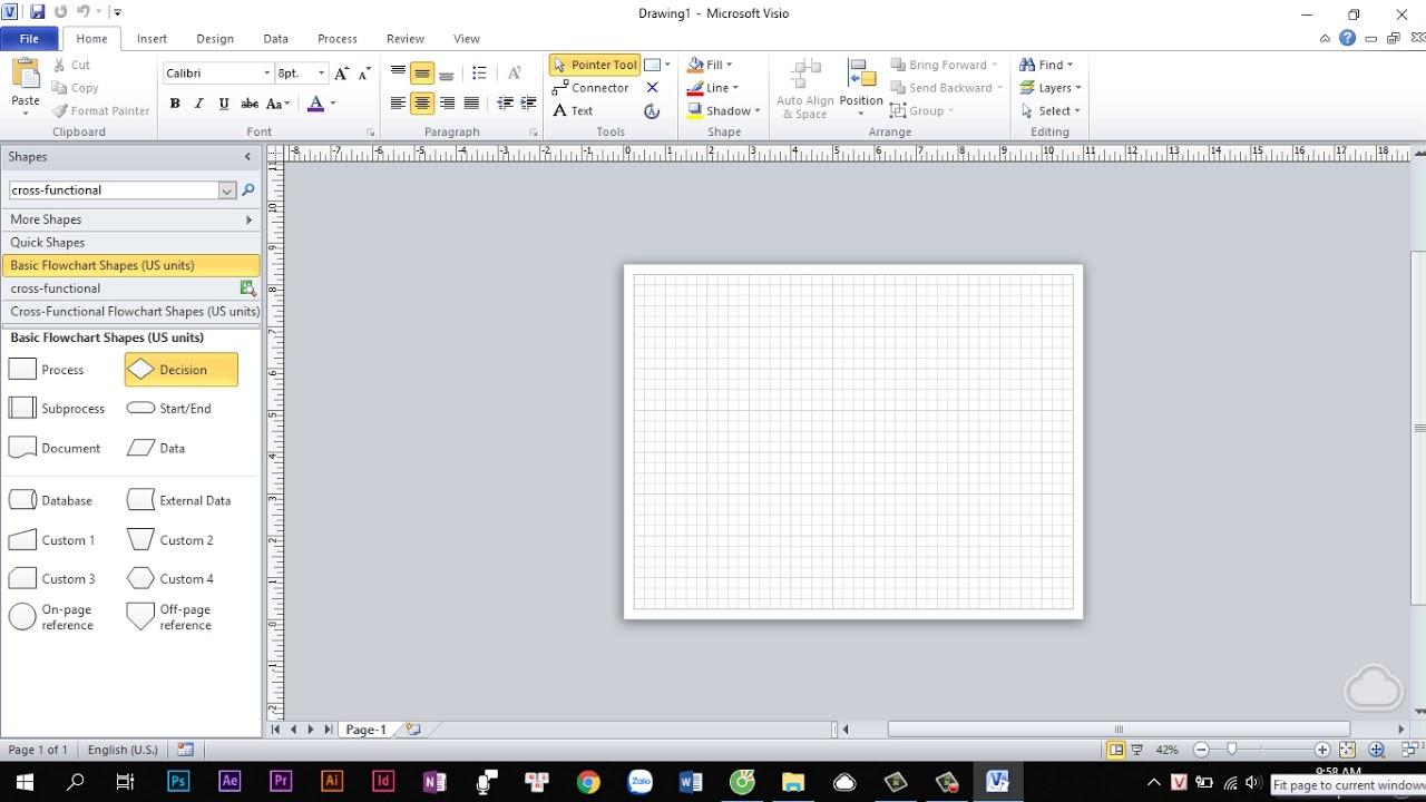Hướng dẫn sử dụng Visio để vẽ sơ đồ cơ bản