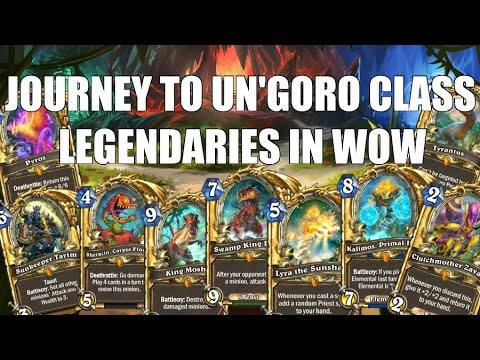 Hearthstone Journey to Un'Goro Class Legendaries in WoW