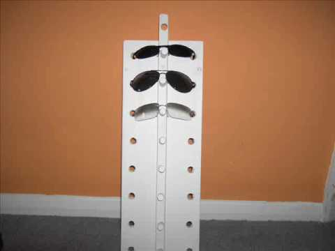 How To Make A Sunglasses Rack Holder Youtube