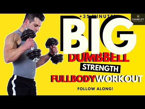 Dumbbell Workout Strength training at home | Dumbbell strength workout | Full body strength workout