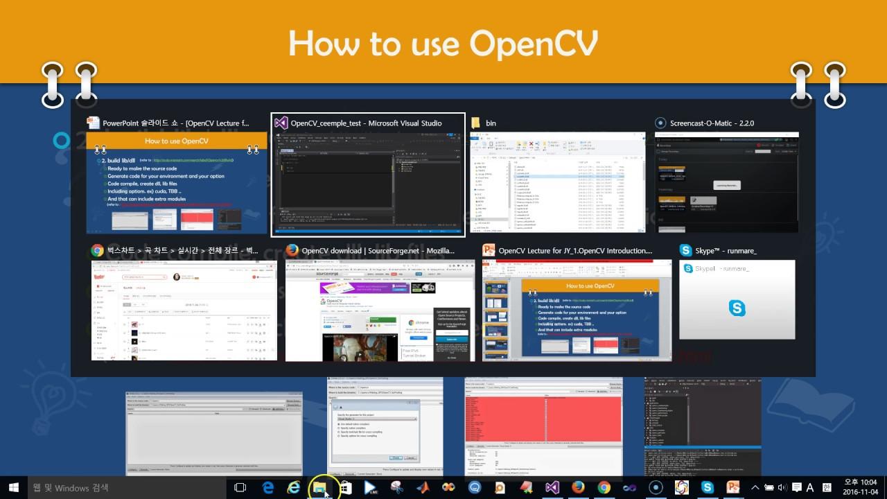 인프런 - OpenCV 강좌 - 컴퓨터 비전   How to build opencv