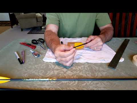 You Don't Need To Buy A Fletching Jig. Fletching Arrows Without Equipment, Part 1 Of 2 | Archery