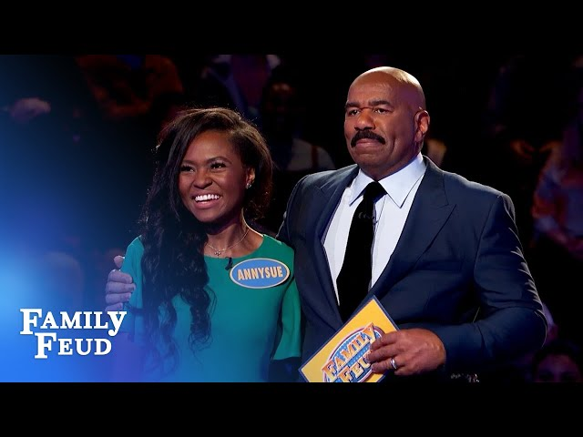 Annysue and Annie crush Fast Money!   Family Feud