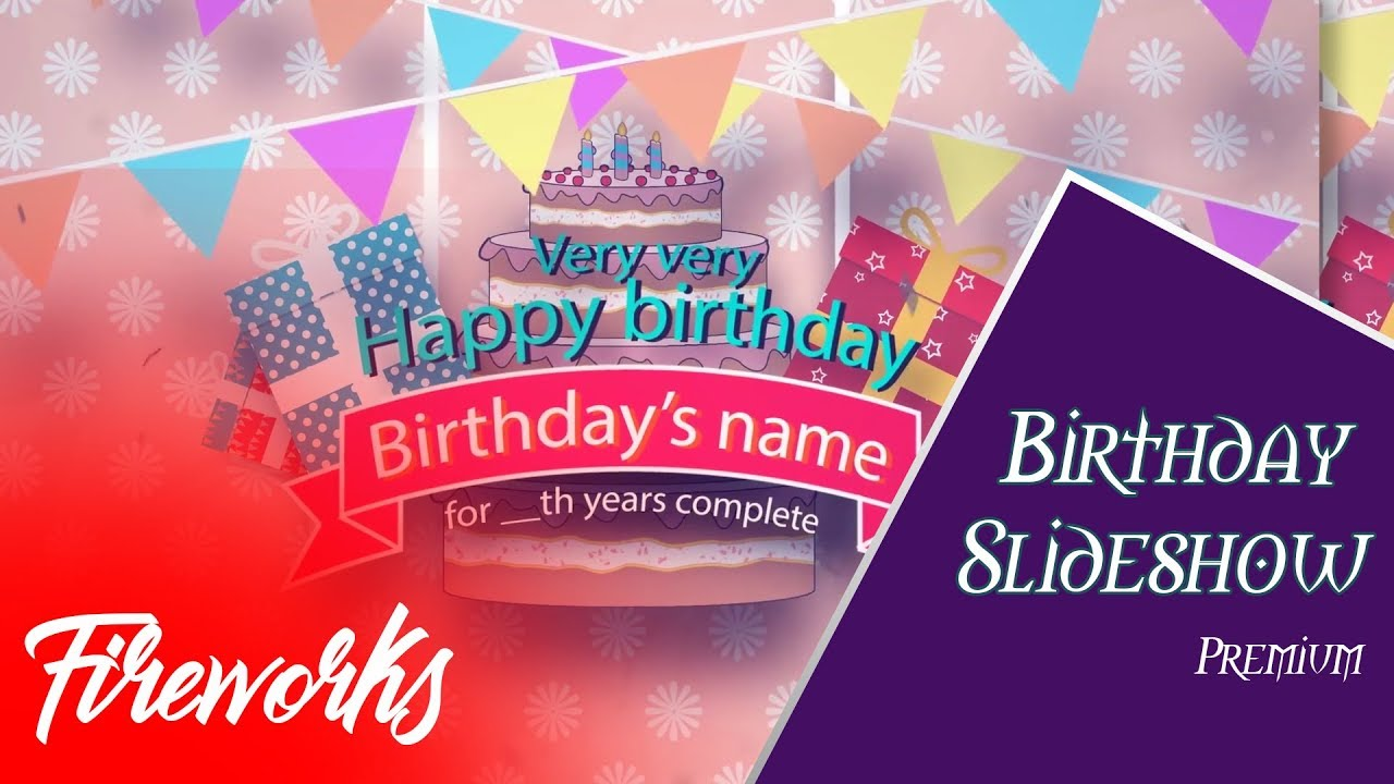 After Effects Free Template   Birthday Slideshow Template   Envato   Kids  Slideshow