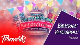 After Effects Free Template | Birthday Slideshow Template | Envato | Kids Slideshow