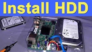 How to Install Harddisk in CCTV DVR