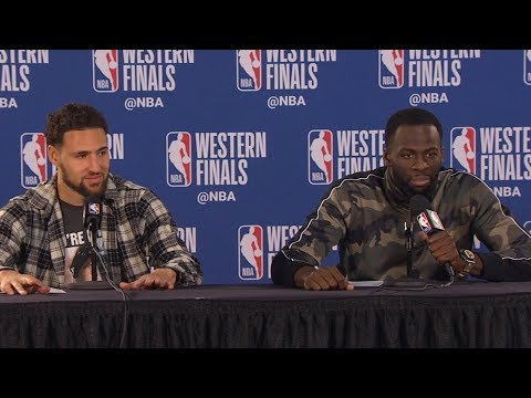 Klay Thompson & Draymond Green Postgame  - Game 3  Warriors vs Blazers  2019 NBA Playoffs