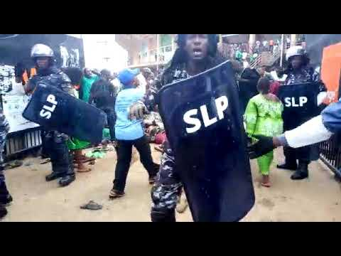 Live video - Stampede at the National Stadium (Sierra Leone Inauguration 2018) President Maada Bio