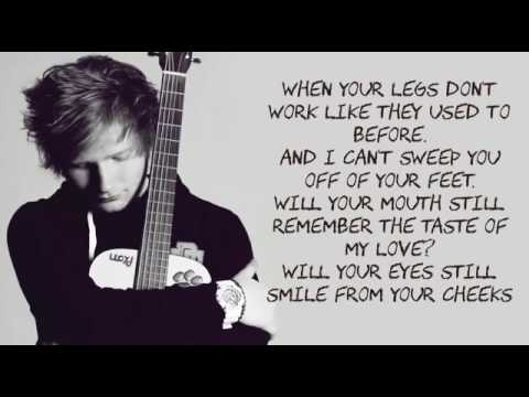 Thinking Out Loud Ed Sheeran Lyrics With Music