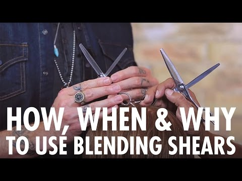 Why, How & When To Use Blending Shears For Texturizing Hair