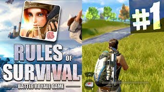 "MOBILE BATTLE ROYALE ""RULES of SURVIVAL"" NEW iOS/Android GAME Episode #1"