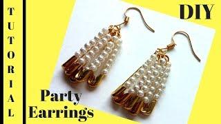 How to make earrings in 5 minutes. DIY party earrings. Earrings making tutorial