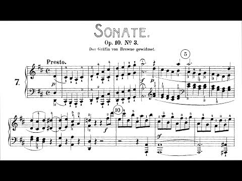 Beethoven: Sonata No.7 in D Major, Op.10 No.3 (Lortie, Jando)
