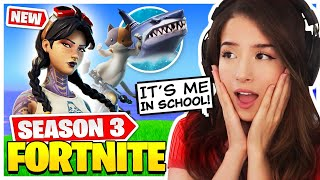 Pokimane Reacts to NEW Fortnite SEASON 3 + Battle Pass!