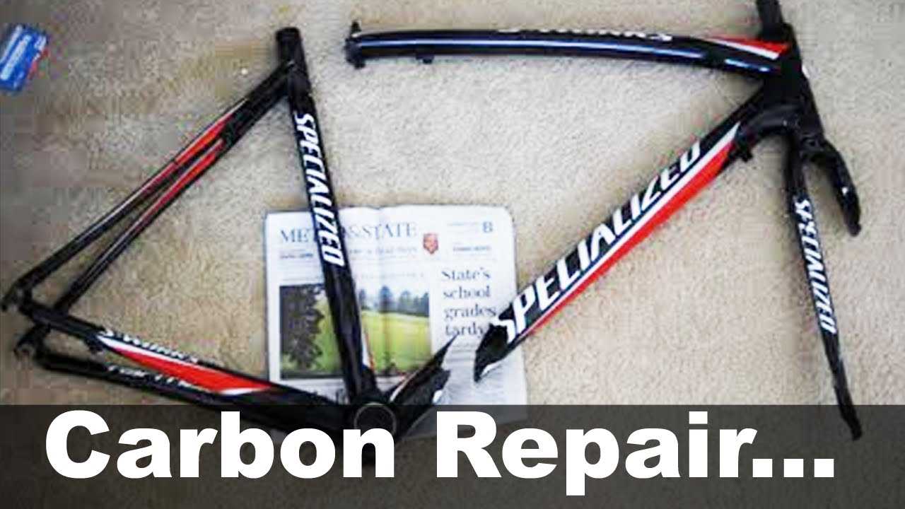 carbon fiber bike frame repair under 30 diy how to specialized s works tarmac youtube