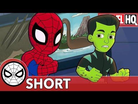 Spidey & Reptil Defend From Dino Destruction! | Marvel Super Hero Adventures - I'm Positive! | SHORT