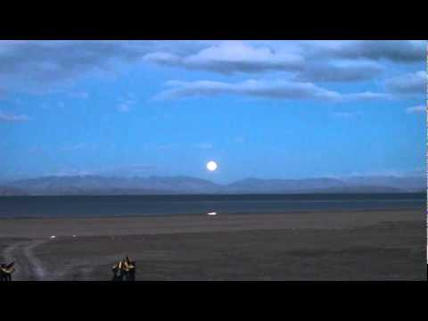 Full Moon Purnima Night at Maan Sarovaar Kailash Mt. Kailas Himalayan Lake